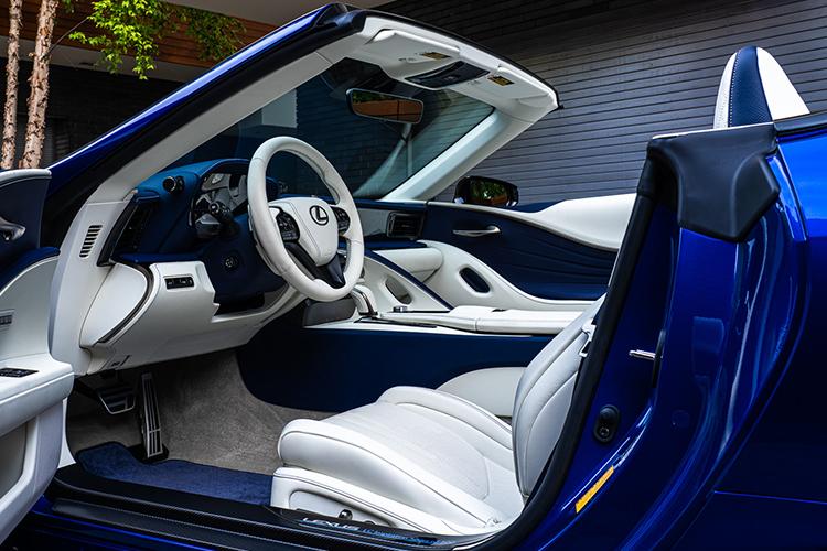 Lexus LC Cabrio Regatta Edition edición especial de lujo interior en blanco