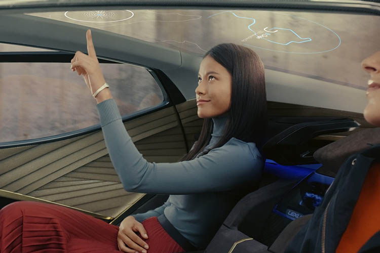 Lexus LF-30 tecnologia 2030 tecnologia en el techo