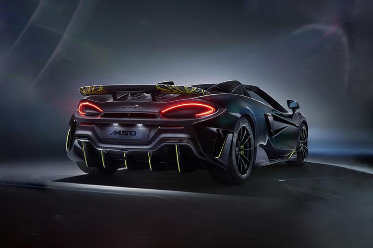 McLaren 600LT Spider Segestria Borealis motor V8