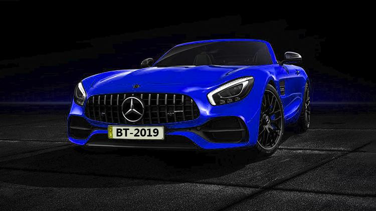 Mercedes-AMG GT S Roadster motor azul