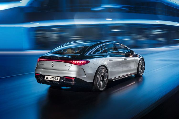 Mercedes-Benz EQS totalmente eléctrico carroceria diseño