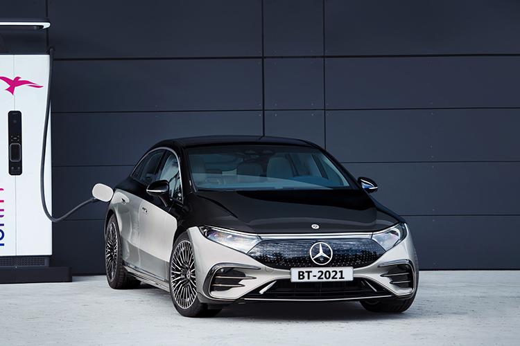 Mercedes-Benz EQS totalmente eléctrico tiempo de carga