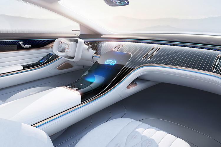 Mercedes Vision EQS sistema de infoentretenimiento