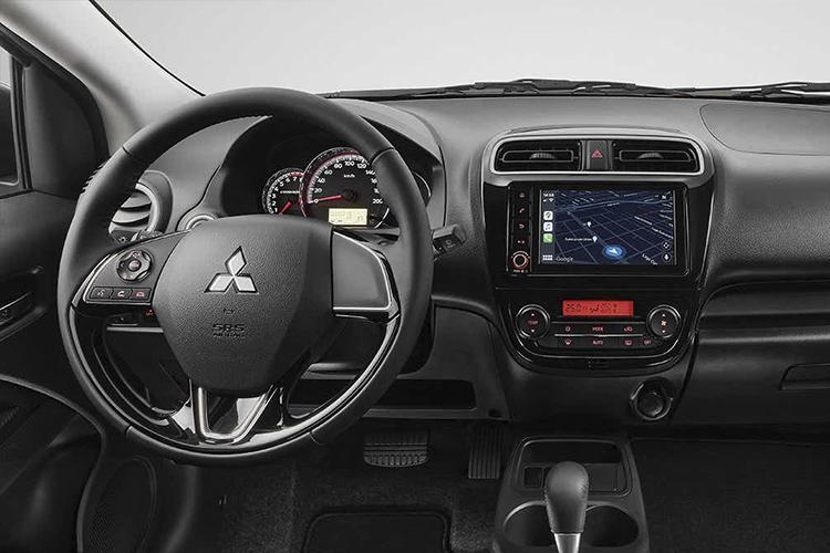 Mitsubishi Mirage G4 2022 más seguro y accesible sistema de infoentretenimiento diseño