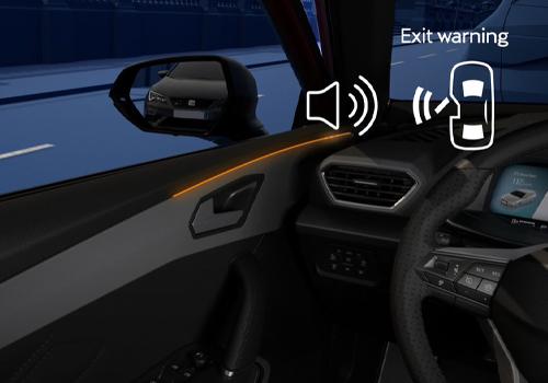 Nueva tecnología de Luz ambiental en el Seat León 2021 alerta sonora y con luz