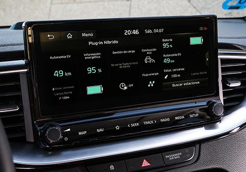 Nueva variante híbrida Kia Xceed PHEV pantalla táctil