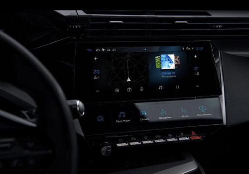 Peugeot 308 2022 tercera generación sistema de infoentretenimiento pantalla