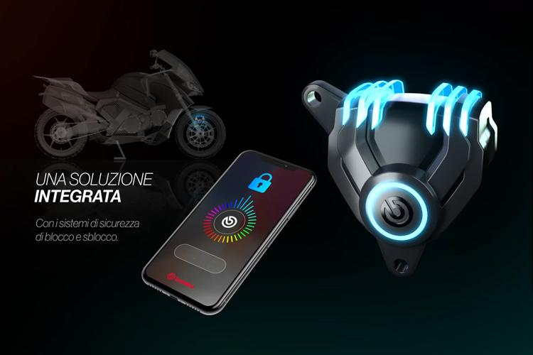Pinzas de freno Brembo New G Sessanta prototipo vehículos aplicación móvil