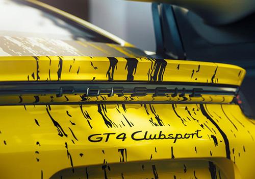 Porsche 718 Cayman GT4 clubsport aerodinámico