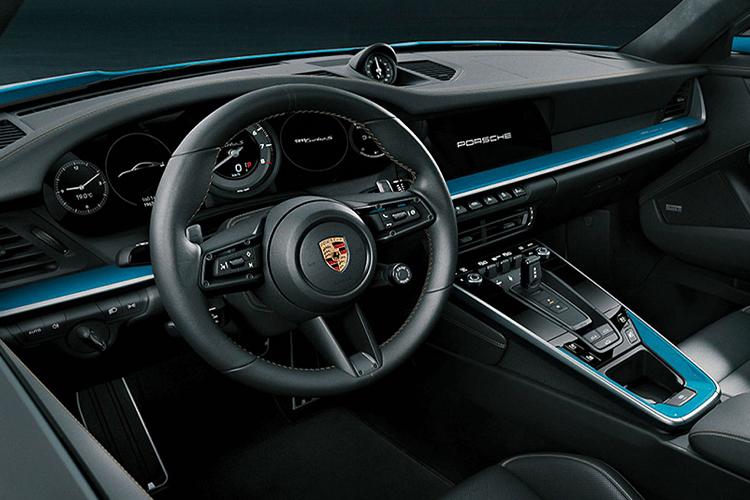 Porsche 911 Turbo S 20 aniversario edición especial sistema de infoentretenimiento