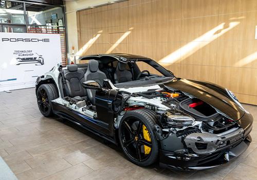 Porsche Taycan Turbo carroceria sistema