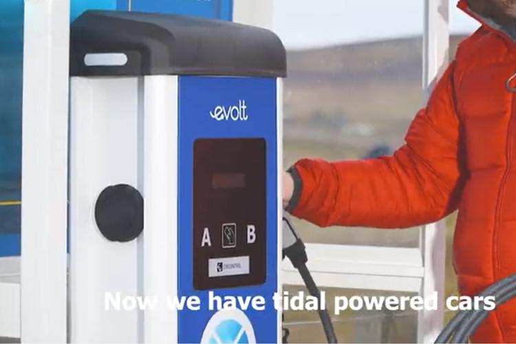 Primer estación de carga de eléctricos alimentada por energía aeromotriz en Escocia tiempo de carga