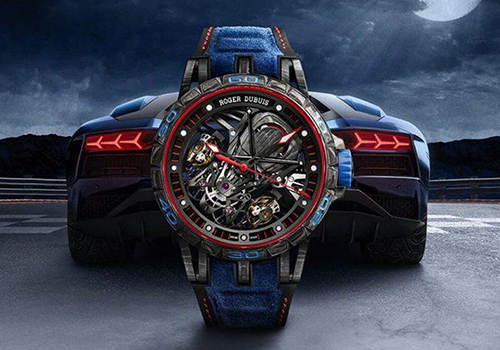 Roger Dubuis Excalibur Aventador S en color azul edicion especial