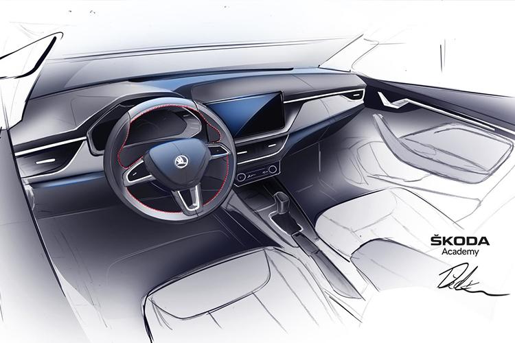 Skoda Scala Spyder concept car interior