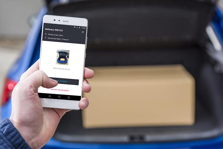 Skoda vehiculos motor innovaciones entrega de paqueteria en la cajuela marcas disponibilidad amazon key volkswagen