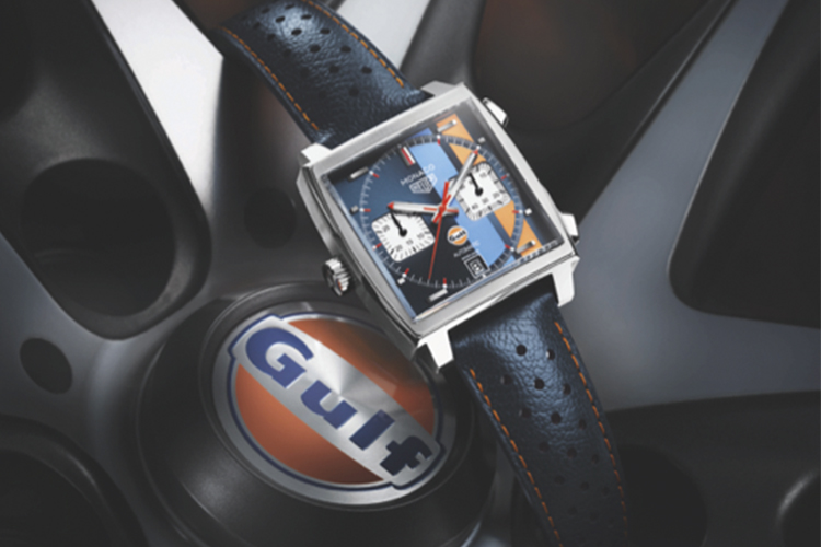 TAG Heuer Monaco Edición Especial Gulf rines