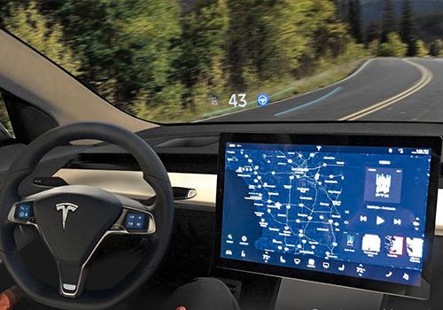 uperando a Toyota - interior pantalla