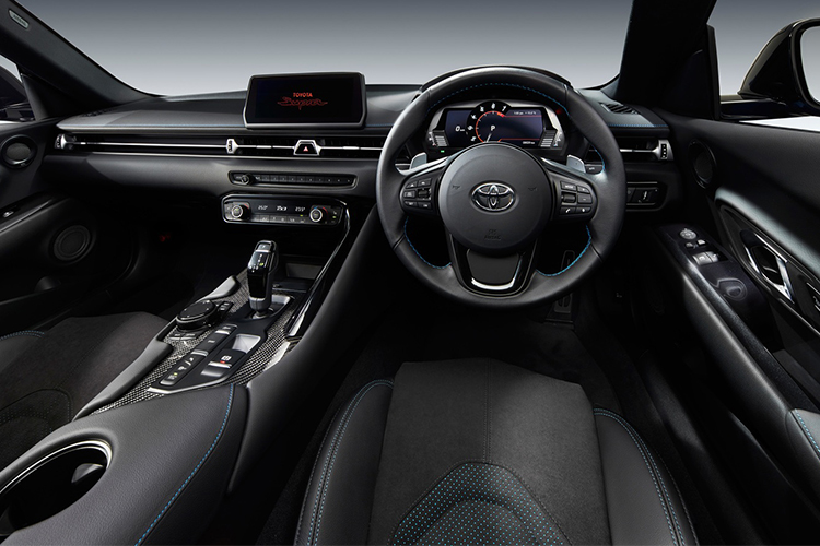 Toyota GR Supra RZ Horizon Blue Edition, sistema de infoentretenimiento