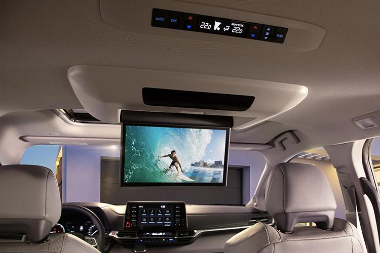 Toyota Sienna 2021 híbrido sistema de infoentretenimiento