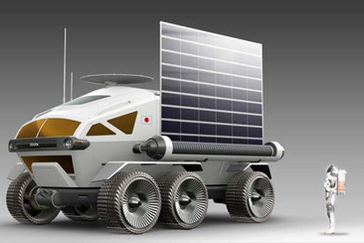 vehiculo explorador con paneles solares