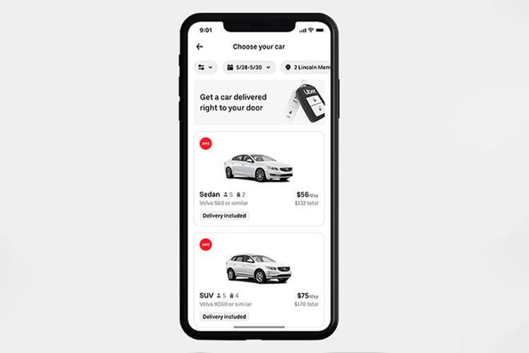 Uber Rent renta de coches en Estados Unidos autos disponibilidad precio tecnologia