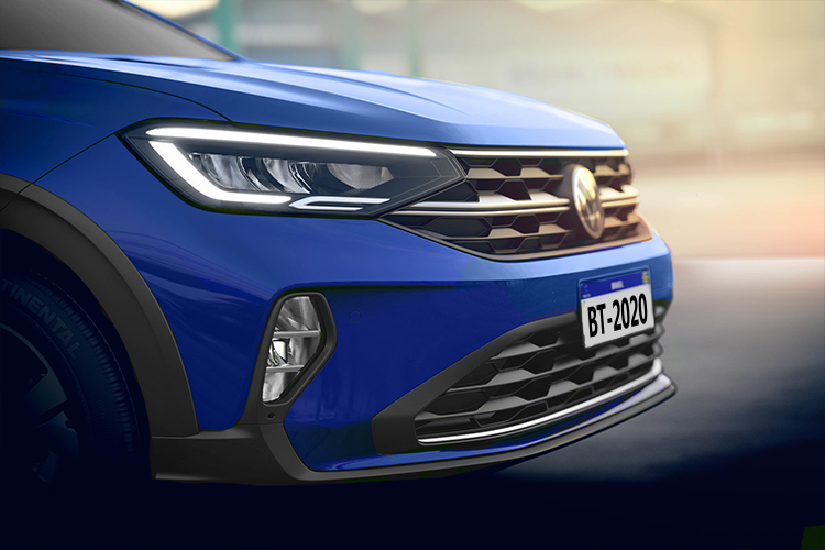 Volkswagen Nivus 2021 faros LED