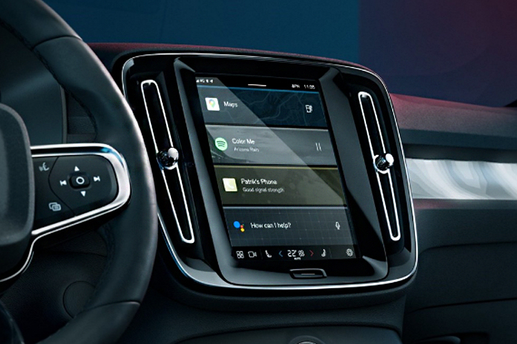 Volvo C40 Recharge totalmente eléctrico sistema de infoentretenimiento