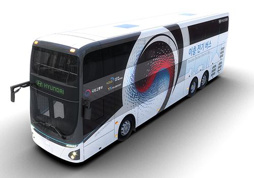 autobus electrico de Hyundai innovaciones con 300 km de autonomia
