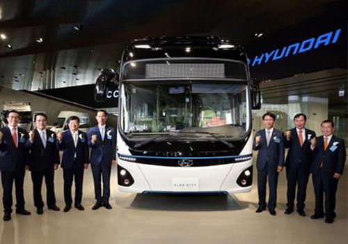 autobus electrico de Hyundai nueva innovacion en Corea del Sur transporte ecologico