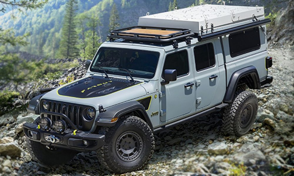 Jeep Gladiator Farout Concept pick-up prototipo con kit específico