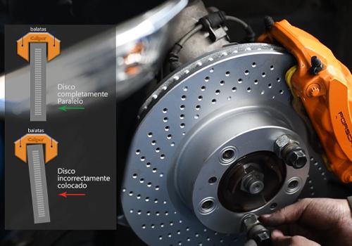 cambio de discos Porsche Cayman GTS paralelismo