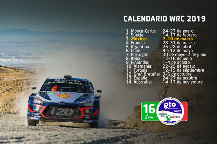 carreras para WRC 2019 14 paises