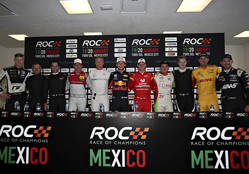 competidores del Race of Champions 2019