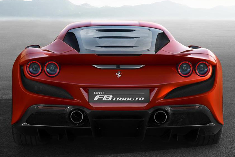 ferrari f8 tributo color rojo
