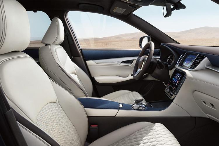 interior del Infinit QX50