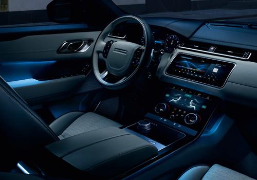 interior del vehículo range rover evoque 2020 tablero tecnologia dos pantallas infoentretenimiento wifi
