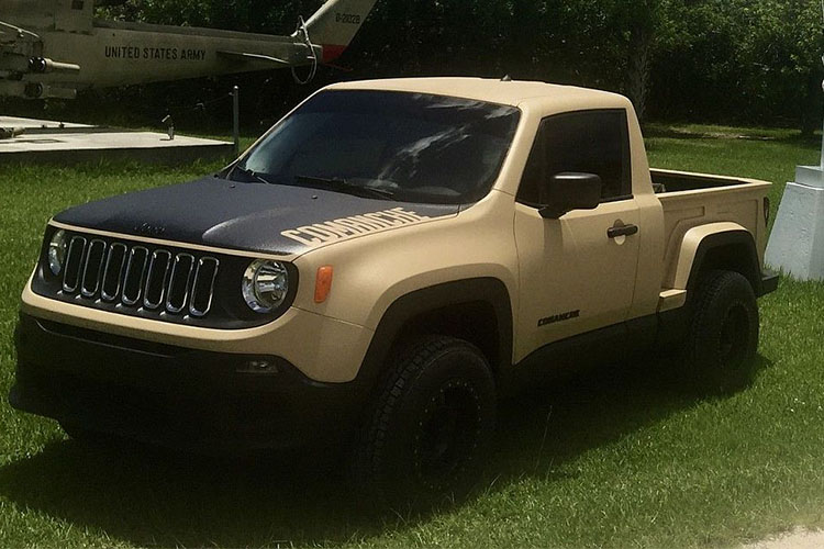 jeep convertida en pickup