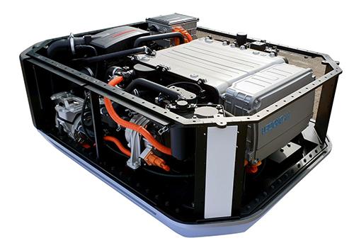 las pilas de hidrógeno del Hyundai Nexo - sistema hidrógeno ecológico renovable
