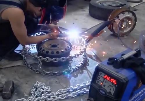 llantas de cadena dandole forma a la llanta
