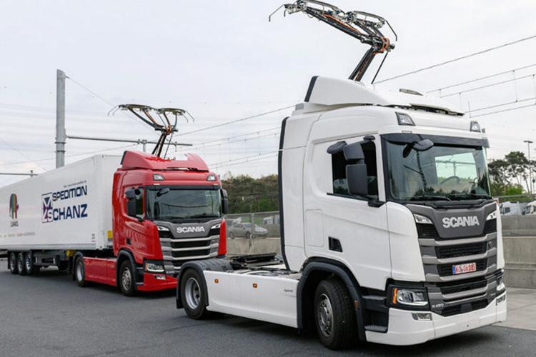 nueva autopista ehighway camiones scania proyecto ecológico en Alemania