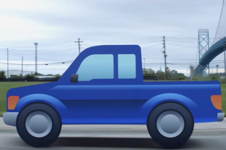 pick-up convertido simulacion movimiento