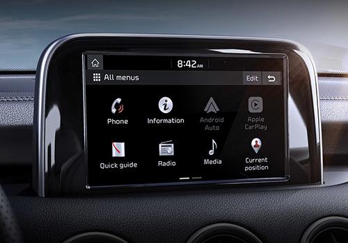 sistema de infoentretenimiento con pantalla tactil, compatible con android auto y apple carplay_stinger 2019