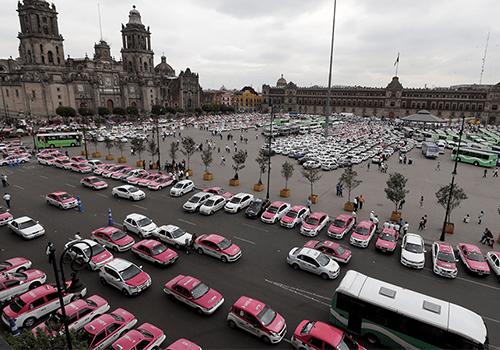 taxis Ciudad de México Zocalo