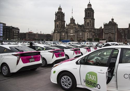 taxis Ciudad de México hibridos innovaciones