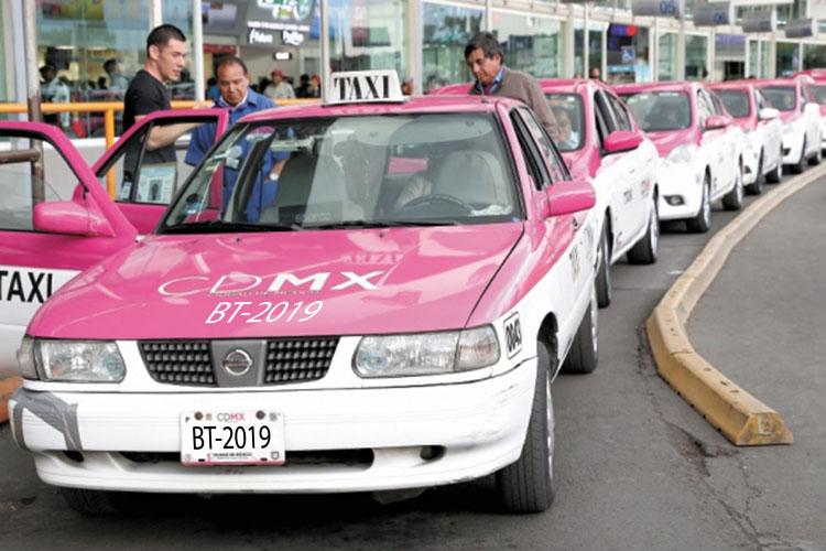 taxis Ciudad de México nuevo rotulado