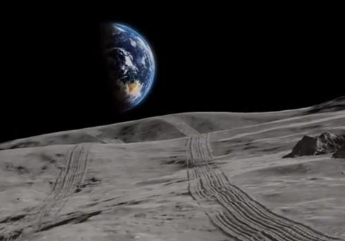 vista desde la luna de la tierra